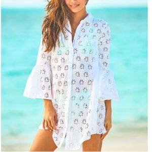 Lilly Pulitzer Gala Coverup Lilly Palm Tree eyelet